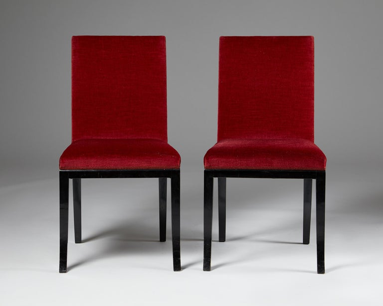 Pair of Chairs Designed by Alvar Andersson for Hyresgästernas Möbelaffär In Good Condition For Sale In Stockholm, SE