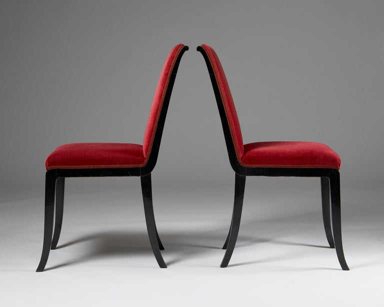 Mid-20th Century Pair of Chairs Designed by Alvar Andersson for Hyresgästernas Möbelaffär For Sale