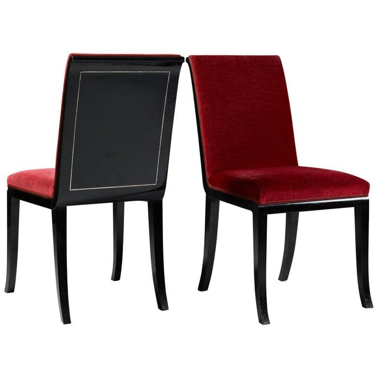 Pair of Chairs Designed by Alvar Andersson for Hyresgästernas Möbelaffär For Sale