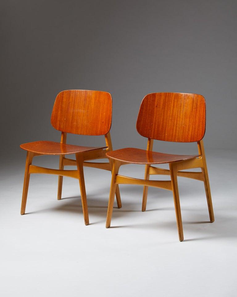Danish Pair of Chairs Designed by Börge Mogensen, Denmark, 1960's For Sale