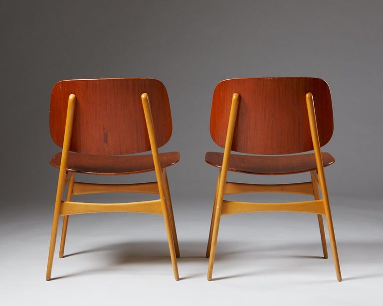 Pair of Chairs Designed by Börge Mogensen, Denmark, 1960's For Sale 1