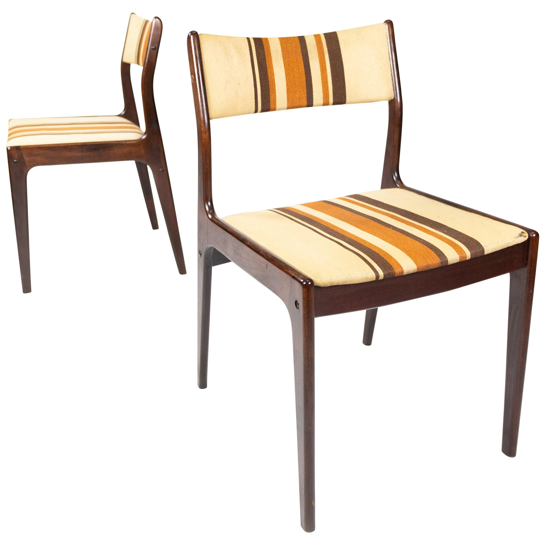 Pair of Chairs in Dark Wood of Danish Design, 1960s