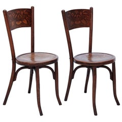 Pair of Chairs in the Style of Thonet by Codina, circa 1900