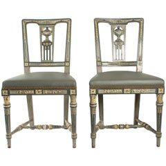 Pair Of Chairs Louis XVI Style From The 19th Century, Antiquity