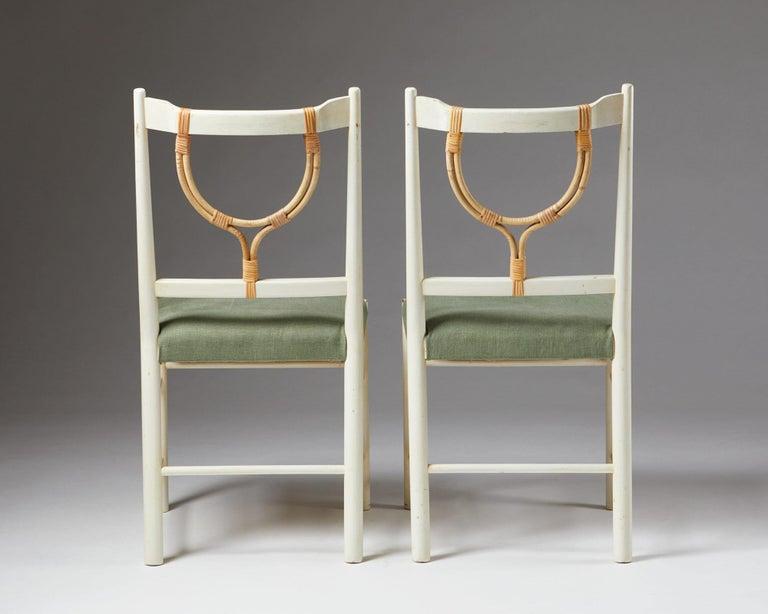 Scandinavian Modern Pair of Chairs Model 2238 Designed by Josef Frank for Svenskt Tenn, Sweden, 1940 For Sale