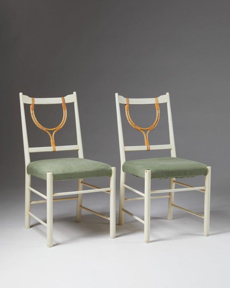 Swedish Pair of Chairs Model 2238 Designed by Josef Frank for Svenskt Tenn, Sweden, 1940 For Sale