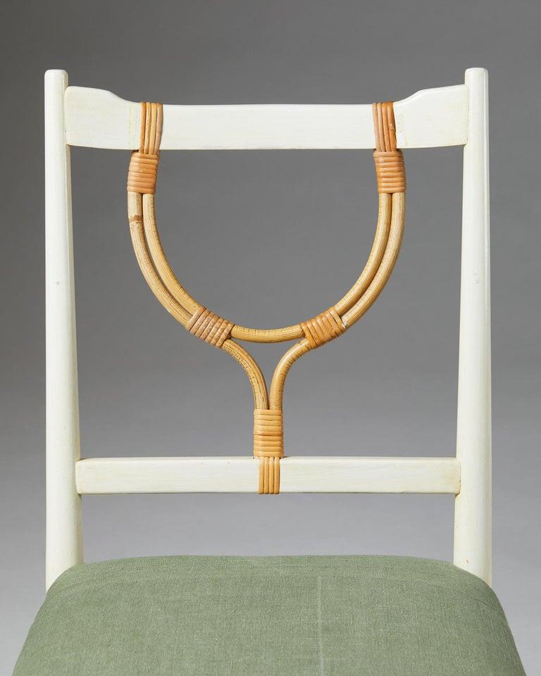 Lacquered Pair of Chairs Model 2238 Designed by Josef Frank for Svenskt Tenn, Sweden, 1940 For Sale