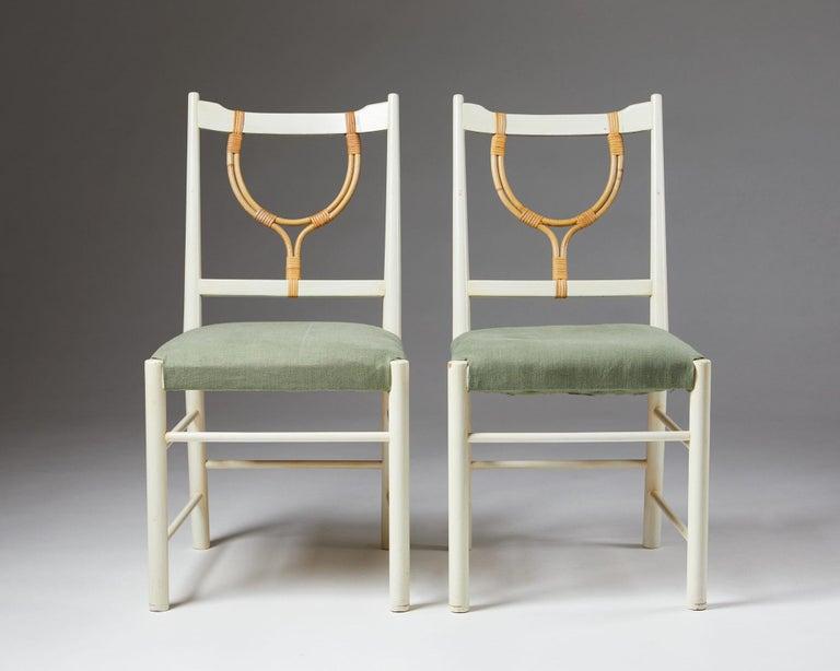 Mid-20th Century Pair of Chairs Model 2238 Designed by Josef Frank for Svenskt Tenn, Sweden, 1940 For Sale