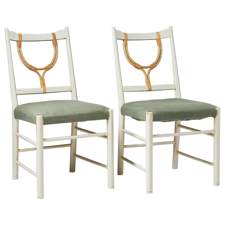 Pair of Chairs Model 2238 Designed by Josef Frank for Svenskt Tenn, Sweden, 1940 For Sale