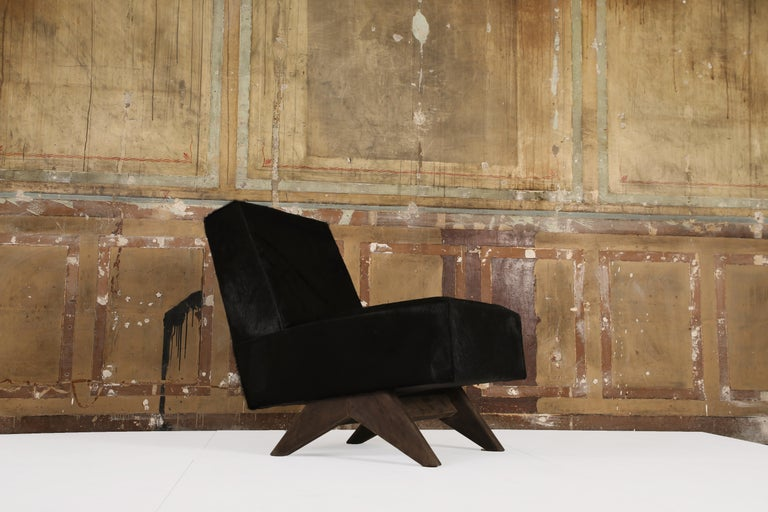 Indian Pair of Chairs PJ-SI-36-A, Pierre Jeanneret For Sale