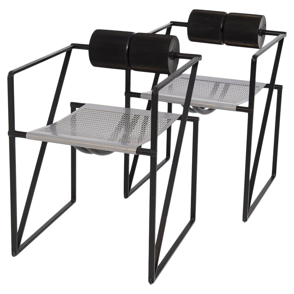 Pair of Chairs Seconda 602 by Mario Botta for Alias 1982s by Botta Collection