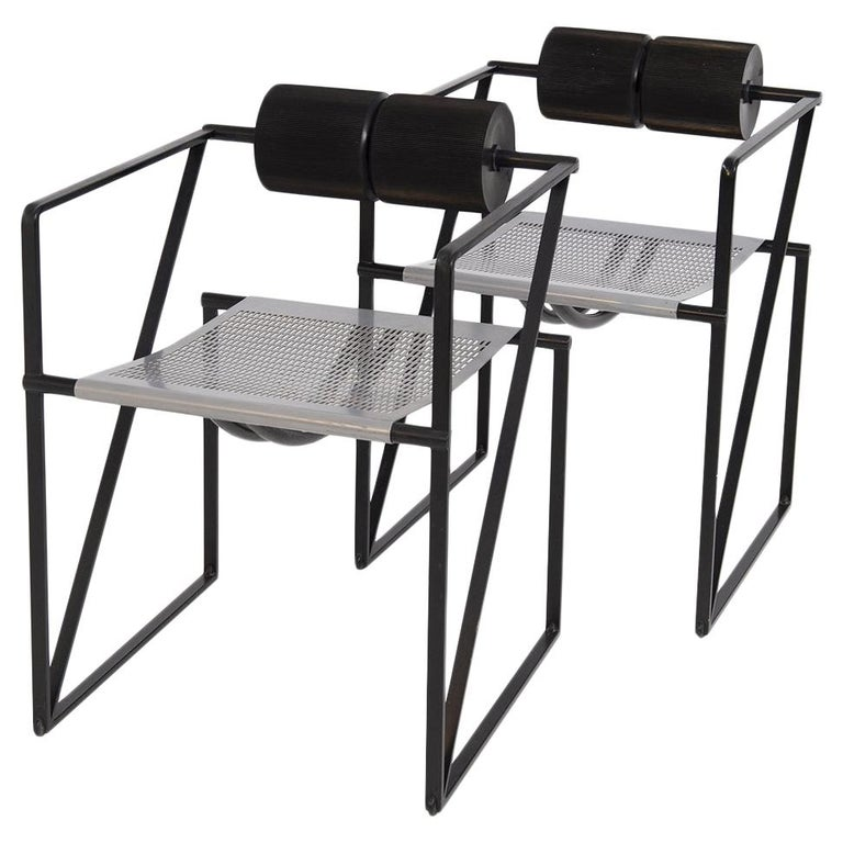 Mario Botta for Alias Seconda 602 chairs, 1982, offered by Vintage Domus SRL
