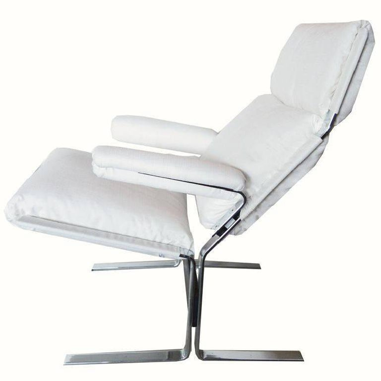 Swiss Pair of Chaise Longue and Ottoman For Sale