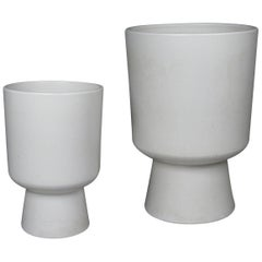 Pair of Chalice Planters by Malcolm Leland for Architectural Pottery, 1960s