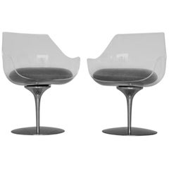 Pair of Champagne Chairs by Erwine + Estelle Laverne for Laverne International