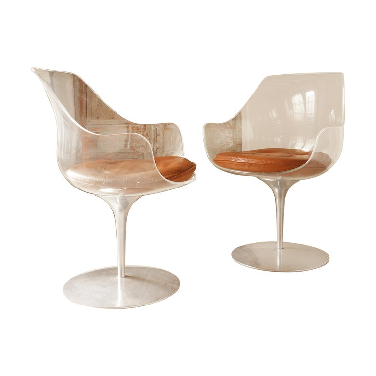 Pair of Champagne Chairs, Estelle and Erwin Laverne For Sale