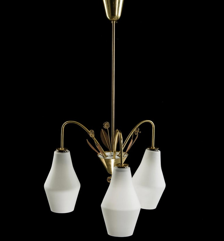 Pair of Chandelier by Paavo Tynell In Good Condition For Sale In Long Island City, NY