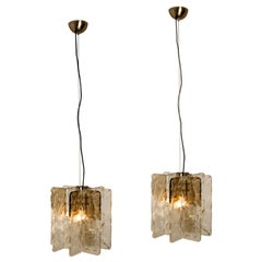 Pair of Chandeliers by Carlo Nason for Mazzega, 1970s
