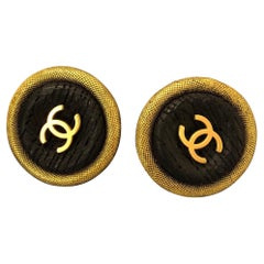 Pair of Chanel Jumbo Gold Toned Earlips Clip On Earrings