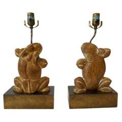 Pair of Chapman Frog Lamps