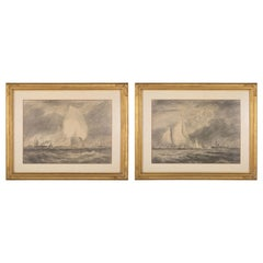 Pair of Charcoal and Crayon Sketches by Reynolds Beal