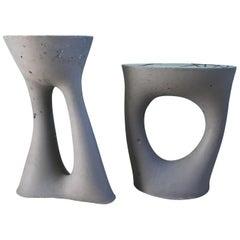 Paar von Holzkohle Kreten Beistelltische von Souda, Werk 2