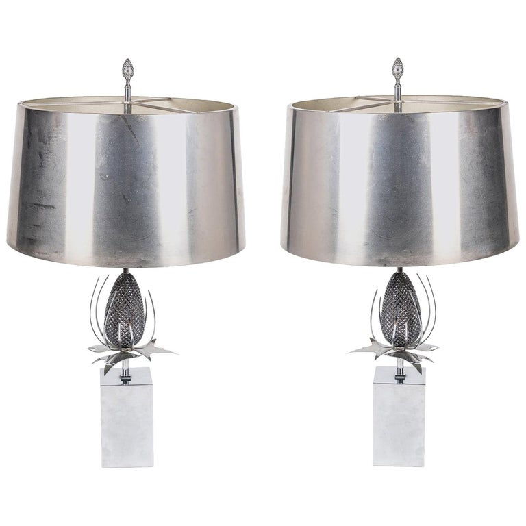 Pair of Chardon Table Lamps by Maison Charles For Sale