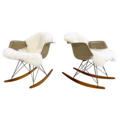 Pair of Charles and Ray Eames for Herman Miller RAR Rocking Chairs, circa 1950