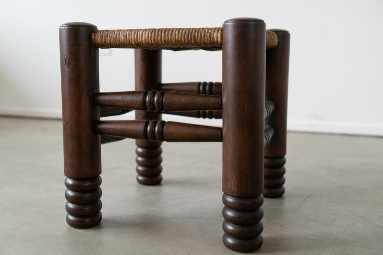 French Pair of Charles Dudouyt Stools For Sale