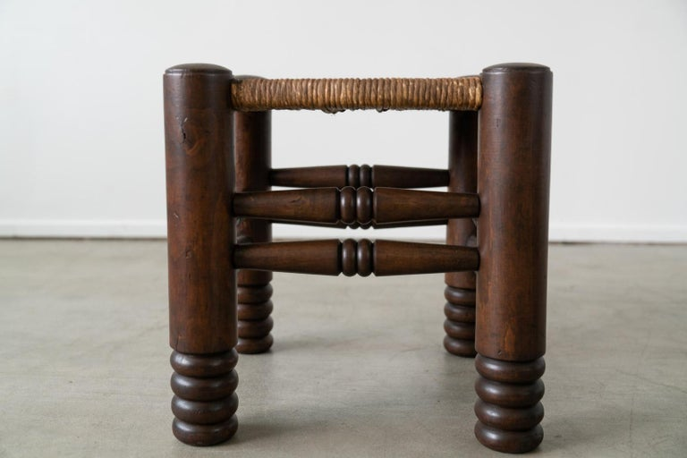 20th Century Pair of Charles Dudouyt Stools For Sale