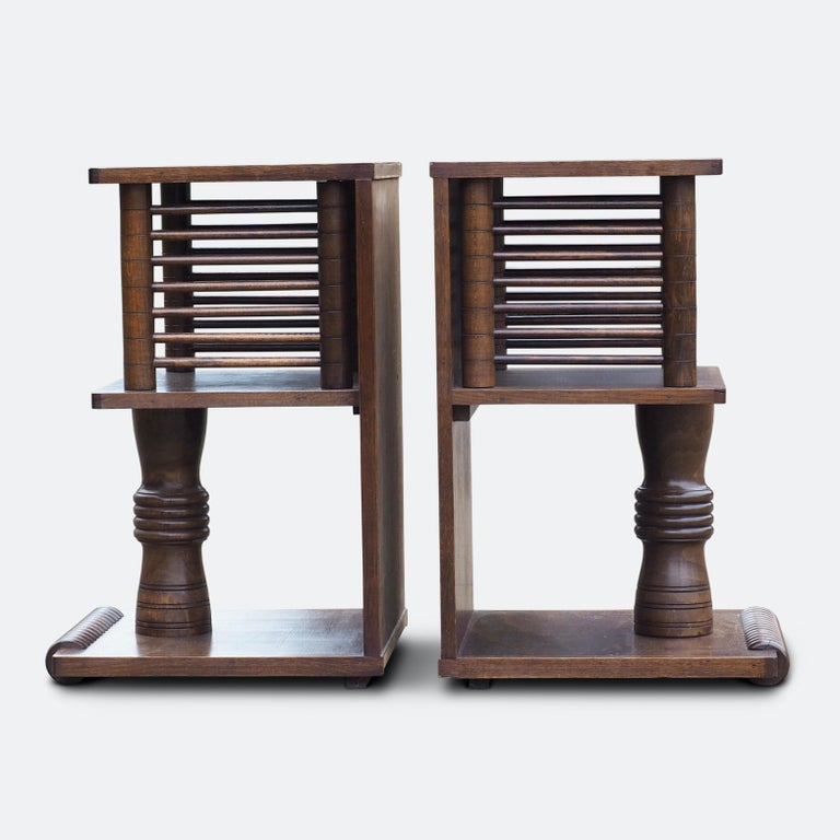 Pair of Charles Dudouyt Tables, circa 1930 For Sale 4