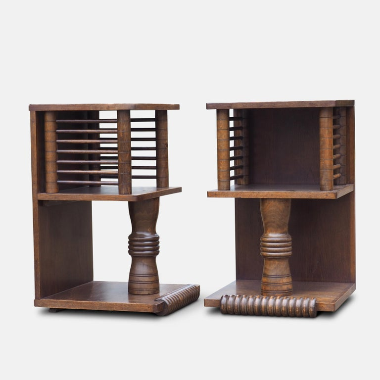 Pair of Charles Dudouyt Tables, circa 1930 For Sale 6