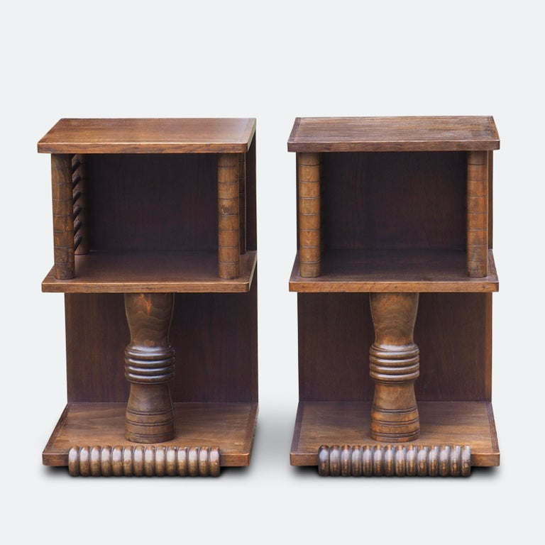 Pair of Charles Dudouyt Tables, circa 1930 For Sale 8