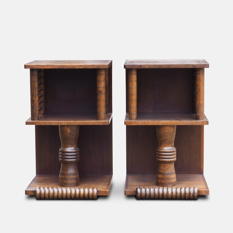 Art Deco Pair of Charles Dudouyt Tables, circa 1930 For Sale