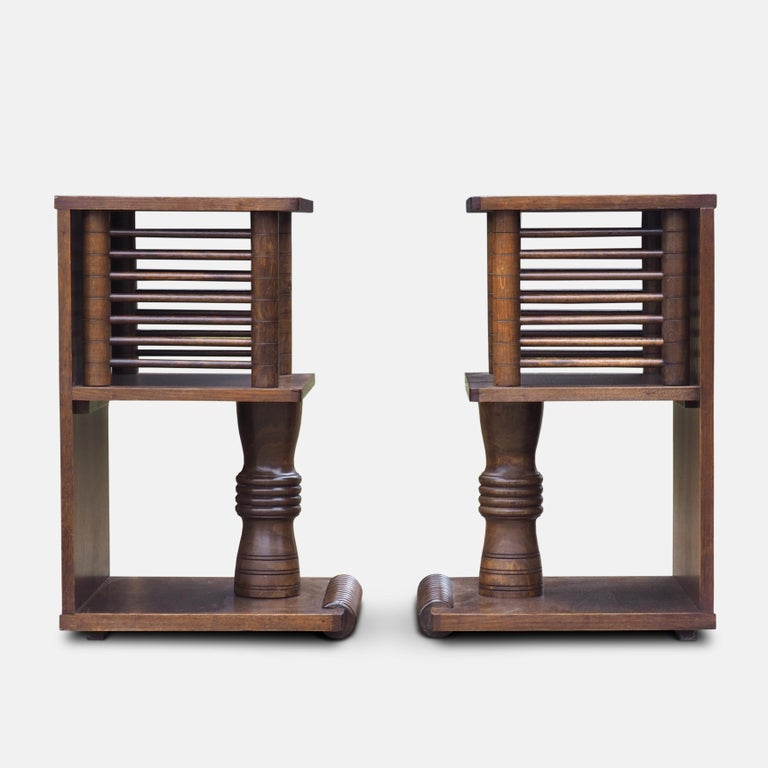 Pair of Charles Dudouyt Tables, circa 1930 In Good Condition For Sale In London, GB