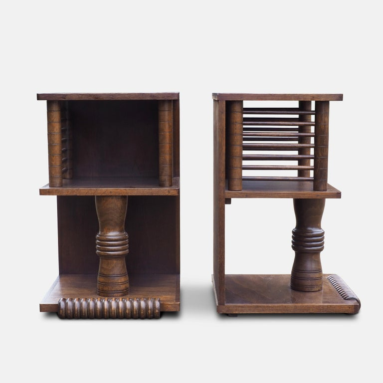 Mid-20th Century Pair of Charles Dudouyt Tables, circa 1930 For Sale