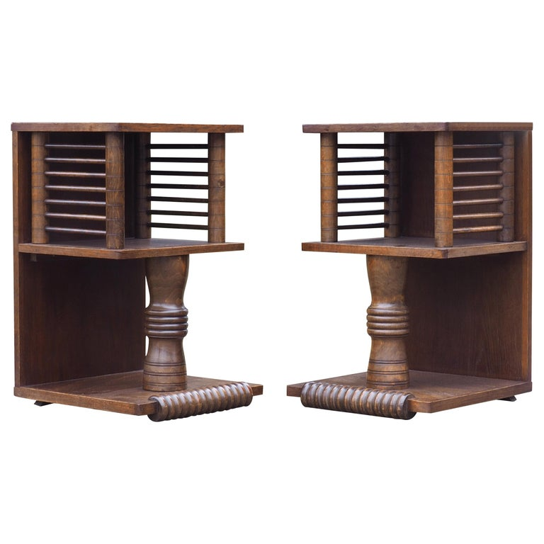 Pair of Charles Dudouyt Tables, circa 1930 For Sale