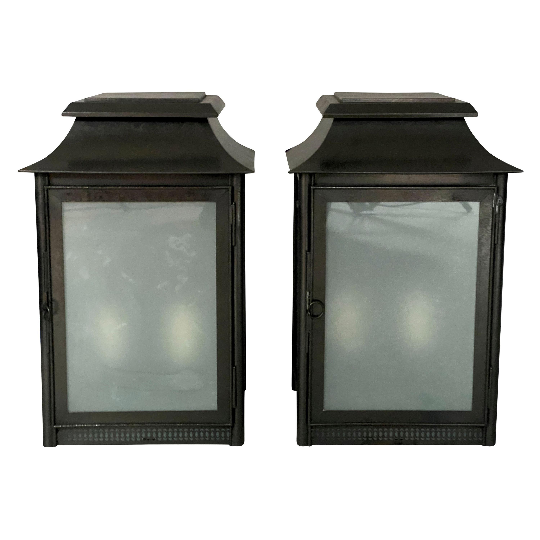 Pair of Charles Edwards Exterior Wall Lanterns