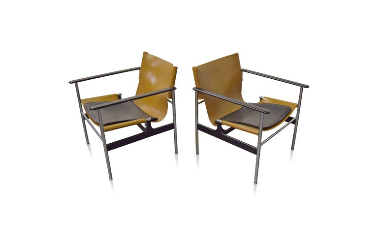 Pair of Charles Pollock for Knoll lounge chairs.