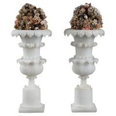 Pair of Charles X Alabaster Vases