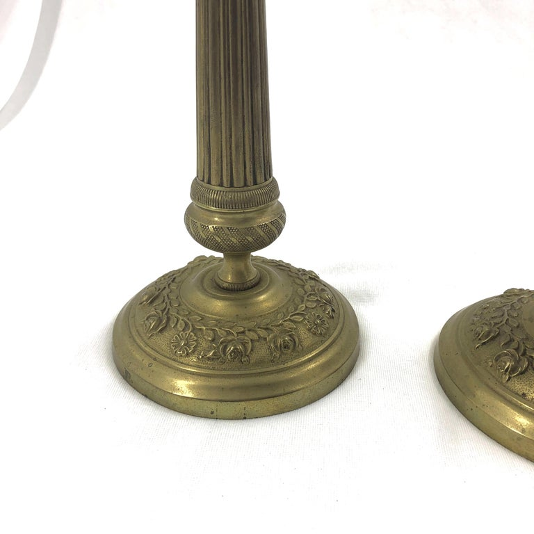 French Pair of Charles X Candlesticks For Sale