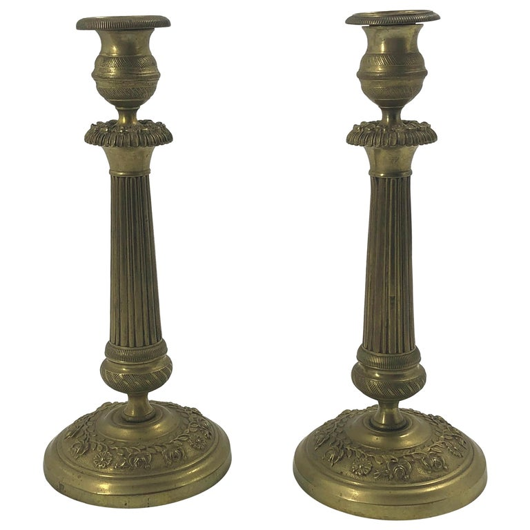Pair of Charles X Candlesticks For Sale