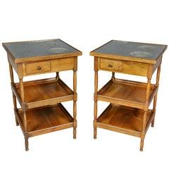 Pair of Charles X Fruitwood Rafraichissoir Tables