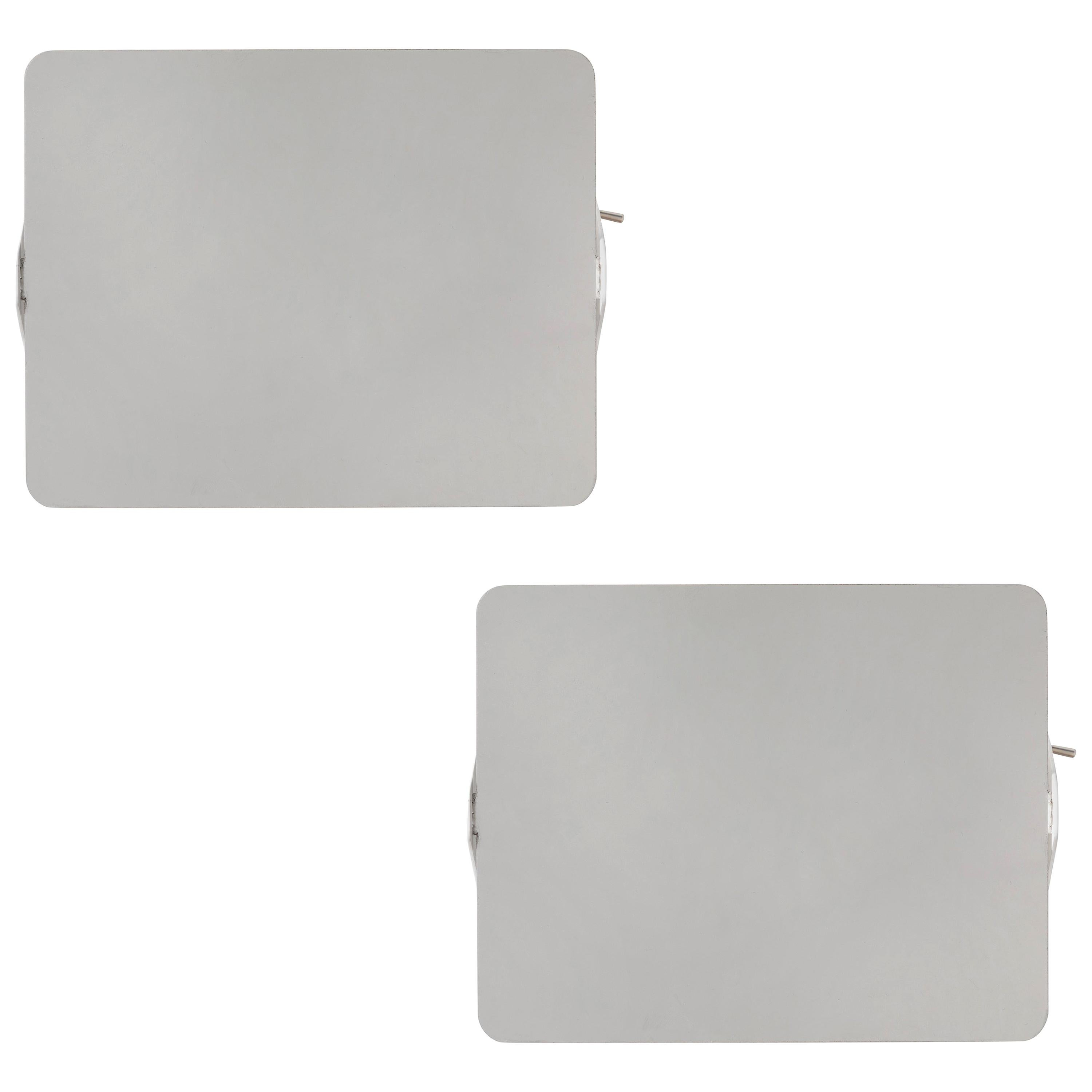 Pair of Charlotte Perriand 'Applique Á Volet Pivotant' Wall Lights in Aluminum