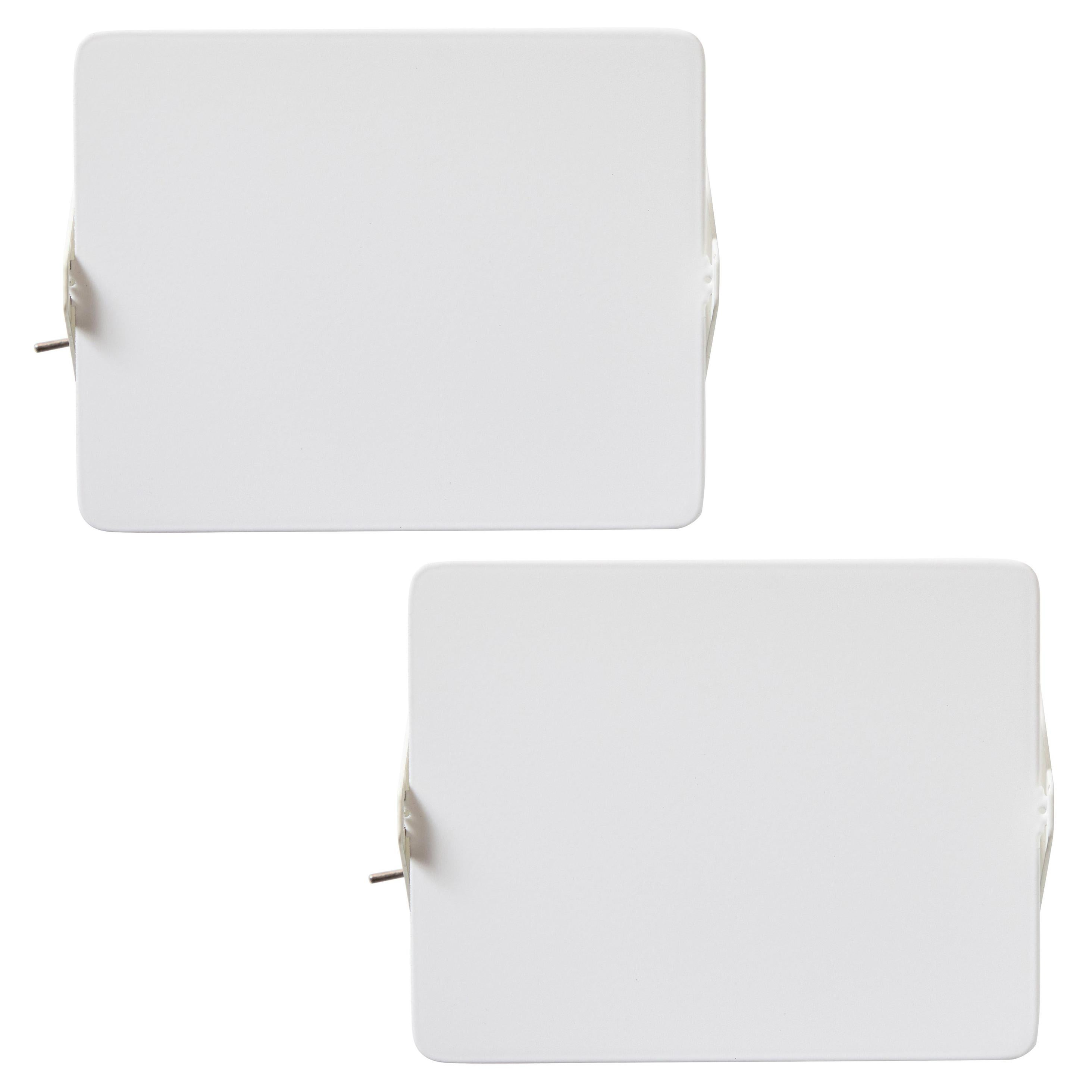 Pair of Charlotte Perriand 'Applique à Volet Pivotant' Wall Lights in White