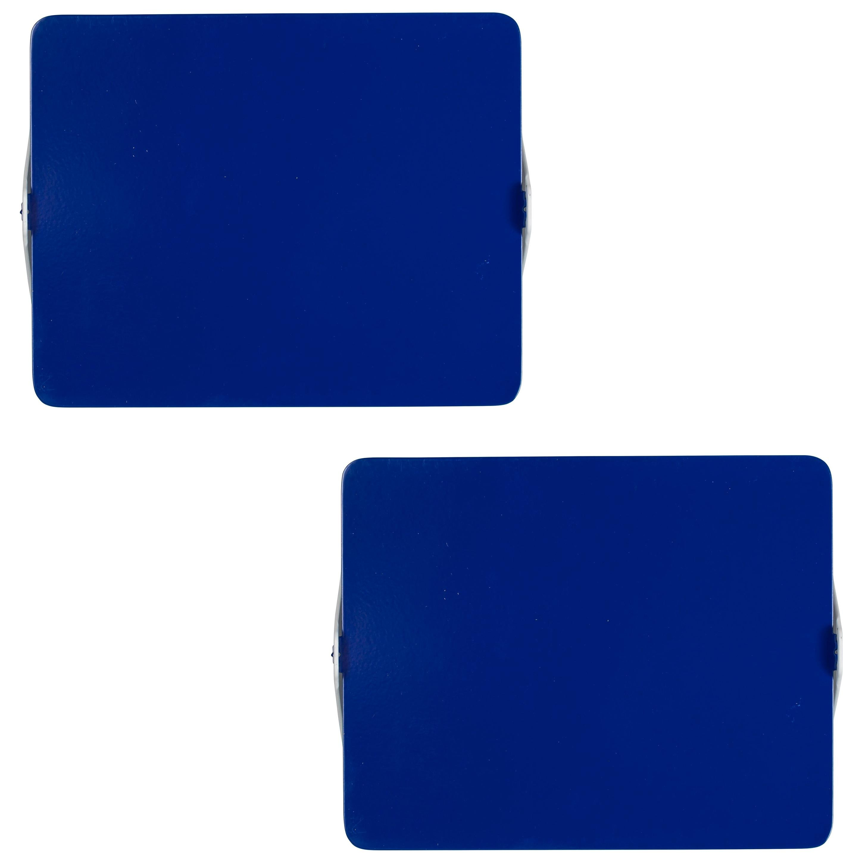 Pair of Charlotte Perriand 'Applique Á Volet Pivotant' Wall Lights in Blue
