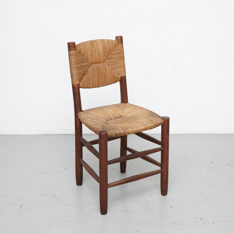 Mid-Century Modern Pair of Charlotte Perriand Chairs, circa 1950 For Sale