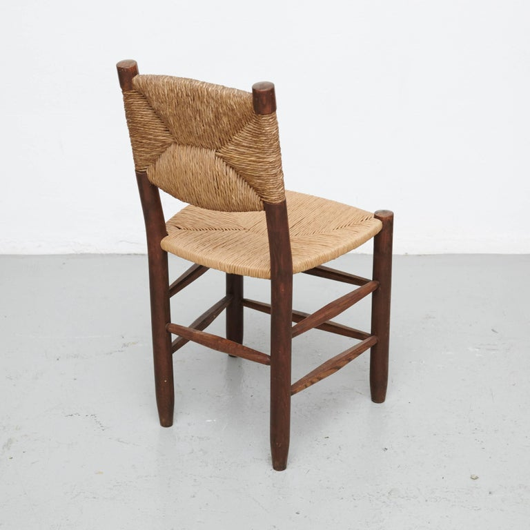 Pair of Charlotte Perriand Chairs, circa 1950 In Good Condition For Sale In Barcelona, Barcelona