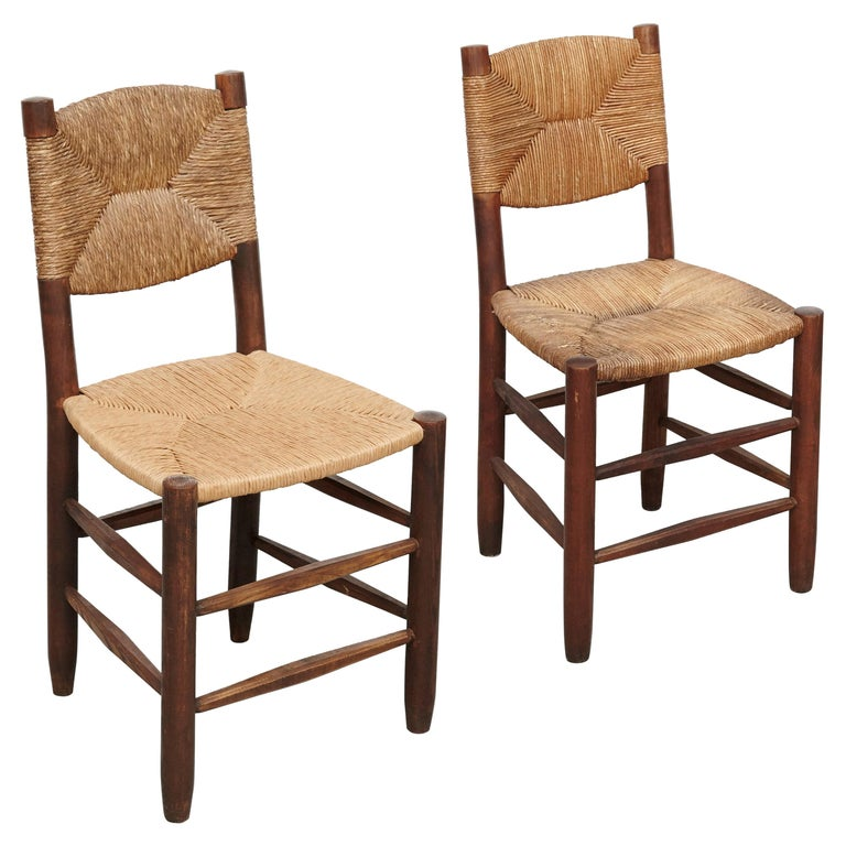 Pair of Charlotte Perriand Chairs, circa 1950 For Sale