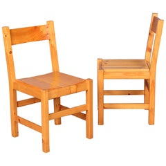 Pair of Charlotte Perriand Chairs for les Arcs